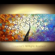Abstract Tree Paintings | Abstract Art- Original Abstract paintings and modern art by pallete ...