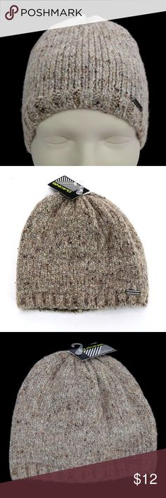 a82aad52e5793 Dakine Heather Beanie Hat Ivory Brown Fleece Lined New with Tags MSRP   30.00 Ivory Brown Mix