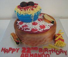 Deep dish pizza cake Food Cakes, Cupcake Cakes, Cupcakes, Man Birthday, Birthday Cakes, Pizza Cake, Pizza Party, Deep Dish, Cake Creations