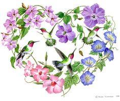 Heart of Hummingbirds By Elena Vladykina