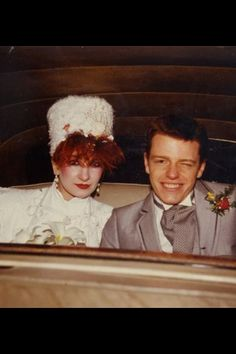 Suggs on his wedding day with Bette Bright.