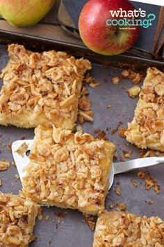 Apple Cake with Oatmeal Streusel Topping #recipe