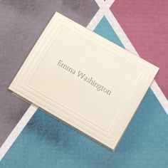 Embossed Graphics Classic Frame Name Note Card Set ($34.95 for 50)