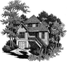 Coastal Home Plans - Summerlin Cottage Cozy Home Decorating, House Exteriors, Coastal Homes, Cozy House, House Plans, Cottage, House Styles, Ideas, Cottages By The Sea