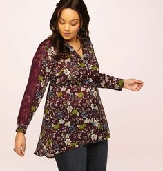 Discover new tops that have that fall feel like our plus size Floral Hi Lo Tunic available in sizes 14-24 online at loralette.com. Avenue Store
