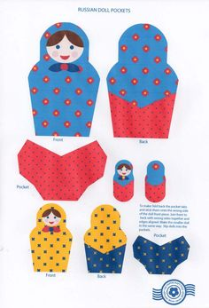 Papercraft Matryoshka: nested paper pockets.           The flip side is patterned, too!     The printout looks like this.     You guys are...