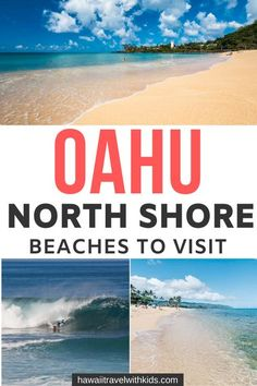Heading to Oahu on your Hawaiian vacation? Don't miss these 7 incredible North Shore beaches for the best surfing and places to see Hawaiian sea turtles. Hitting the beach is a fun, free thing to do on Oahu and the North Shore beaches have some of the best sunset views. Click to find out which North Shore beaches are worth it or pin to save for later. www.hawaiitravelwithkids.com #northshore #oahu #hawaii #surfing Family Vacation Destinations, Hawaii Vacation, Hawaii Travel, Beach Trip, Travel Usa, Oahu Hawaii, Travel Tips, Travel Destinations, Beach Vacations