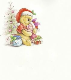 Ideas Quotes Winnie The Pooh Eeyore For 2020 Winnie The Pooh Pictures, Cute Winnie The Pooh, Winnie The Pooh Christmas, Winne The Pooh, Winnie The Pooh Quotes, Winnie The Pooh Friends, Disney Christmas, Christmas Art, Piglet Quotes