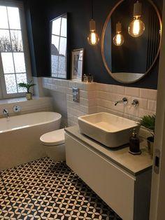 Most Popular Small Bathroom Design Ideas for 2019 - Small Style.Most Popular Small Bathroom Design Ideas for 2019 - Small Style.Most Popular Small Bathroom Design Ideas for 2019 - Small Style. Bathroom Floor Tiles, Wood Bathroom, Grey Bathrooms, Bathroom Colors, Modern Bathroom, Master Bathroom, Bathroom Ideas, Mirror Bathroom, Bathroom Black