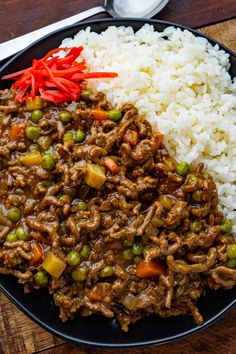 A quick and easy Japanese style 'dry' curry with ground beef and finely diced veggies that has less sauce than regular Japanese style curry. Entree Recipes, Fall Recipes, Asian Recipes, Cooking Recipes, Japanese Recipes, Grilling Recipes, Japanese Food, Dinner Recipes, Korma