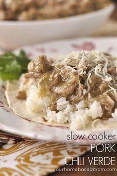 Slow Cooker Pork Chili Verde - your homebased mom