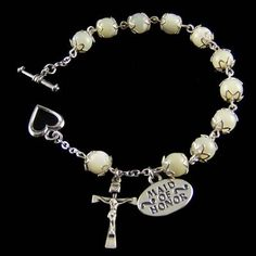 Wedding Rosary Bracelet - Mother of Pearl
