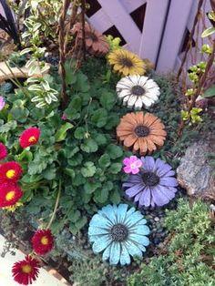 Image result for images of flower garden stepping stones