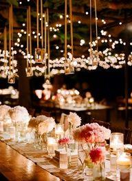 Centros de Mesa para Boda Con velas y recipientes de vidrio para centros de mesa