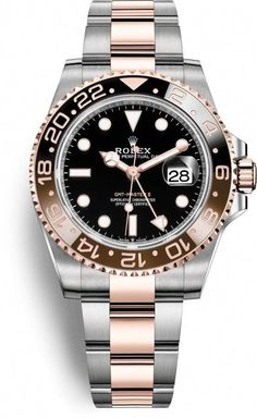 Rolex GMT-Master II Root Beer Best Price Men's Watch Discounted Rolex Oyster Perpetual GMT-Master II Rose Gold with Steel Men's Luxury Watch - Watch for Men - Guaranteed Authentic Rolex Watches For Sale, Best Watches For Men, Luxury Watches For Men, Ladies Watches, Rolex Oyster Perpetual, Stylish Watches, Cool Watches, Cheap Watches, Watches Rolex