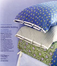 DIY: ok, it's technically a macy's add but adjustable sheets are totally convert. : DIY: ok, it's technically a macy's add but adjustable sheets are totally convertible to a DIY project! Sewing Hacks, Sewing Tutorials, Sewing Patterns, Knitting Patterns, Sewing Pillows, Diy Pillows, Diy Pillow Cases, Pillow Covers, Fabric Crafts