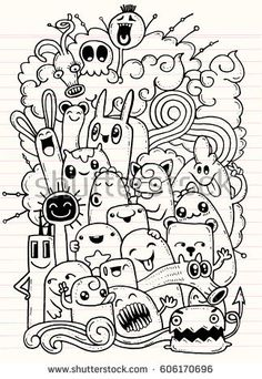 Vector illustration of Doodle Halloween Ghost background ,Hand drawing Doodle Easy Doodles Drawings, Funny Doodles, Cool Doodles, Kawaii Doodles, Simple Doodles, Sharpie Doodles, Crazy Drawings, Flower Drawings, Sharpie Art