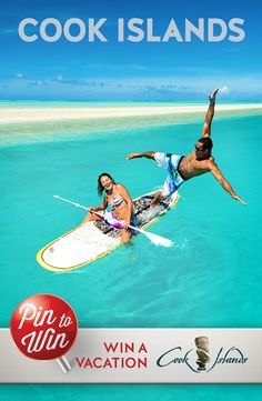 Paddle Boarding, great fun, Muri Lagoon, Rarotonga Cook Islands - find your slice of paradise!  Pin to Win a Dream Vacation to the Cook Islands