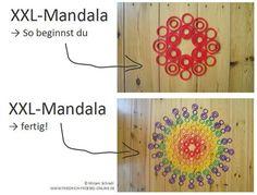Anleitung um ein XXL Mandala mit Kindern in Kindergarten und Grundschule zu legen