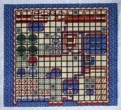 Zelda map cross stitch by Cross-stitch ninja, via Flickr