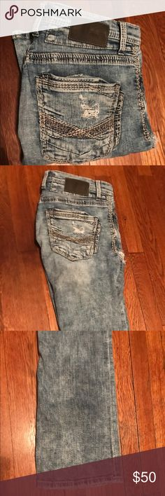 Men's buckle BKE jeans Very clean light washed men's buckle BKE jeans!! Getting to small for me! Another great product for those who love buckle products!!!!!! Buckle Jeans Bootcut
