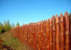 How to make a fence made of palisade
