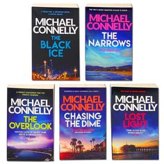 Michael Connelly 5 Books Set Collection , The Black Ice, The Narrows, The Overlook