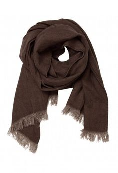 brown linen scarf