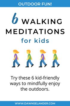 Try walking meditation with your kids this summer. These six creative versions are simple to practice and engaging because they are fun, too. Meditation Kids, Walking Meditation, Reiki Meditation, Mindfulness For Kids, Mindfulness Activities, Mindfulness Meditation, Mindfulness Therapy, Outside Activities For Kids, Mindful Parenting