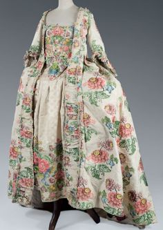 Robe à la française Damask circa 1735