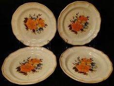 Flower Fest EC 452 | DR Vintage Dinnerware and Replacements Cup And Saucer Set, Tea Cup Saucer, Tea Cups, Vintage Dinnerware, Garden Club, Salad Plates, Mikasa, Dinner Plates, Decorative Plates