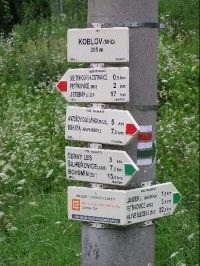 Koblov: Koblov - rozcestí