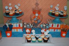 Orange and Turquoise Baby Shower Party Ideas   Photo 4 of 20   Catch My Party