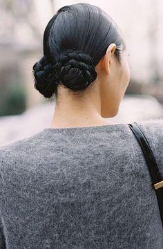 Weekend hair inspiration via Japanese model Chiharu Okunugi, after Miu Miu, Paris, March Recreate Chiharu's look (kind of): . Good Hair Day, Great Hair, Pelo Editorial, Braided Hairstyles, Cool Hairstyles, Popular Hairstyles, Party Hairstyles, Weekend Hair, Bun Hairstyles