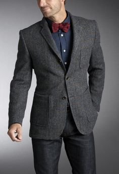 d.s. dundee/tweed patch pocket  sportcoat