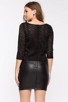 Кружевная блуза Размеры: S, M, L Цвет: черный, кремовый Цена: 1013 руб.     #одежда #женщинам #блузы #коопт