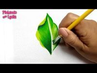 Fabric painting tutorial, learn how to paint a leaf easily. How to paint a leaf … Fabric painting tutorial, learn how to paint a leaf easily. How to paint a leaf step by step We use to paint this leaf: Apple green Moss green Blue Oil White… Painting Leaves Acrylic, Plant Painting, Acrylic Painting Techniques, Painting Videos, Painting Lessons, Painting Tips, Fabric Painting, Painting & Drawing, Body Painting