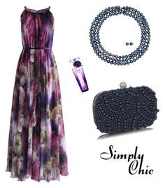 """""""Indigo Secret"""" by simply-chic-romania on Polyvore featuring Lancôme and Chicwish"""