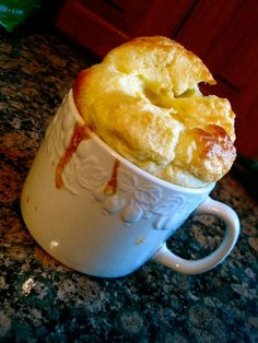 German Pancakes in a Mug (click on pic for recipe).  And if you scroll down the recipe, gives larger recipe.