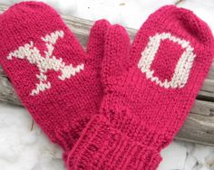 Hugs and Kisses Mittens -- Made to Order on Etsy. , via Etsy.