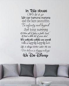 Disney Wall Decal Disney Wall Sticker Family Wall Decal Run - Custom vinyl wall decals disney