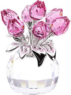 Buy Swarovski Vase of Tulips Crystal, authentic at discount prices. Complete selection of Luxury Brands. All current Swarovski styles available. Swarovski Crystal Figurines, Swarovski Crystals, Pink Love, Pretty In Pink, Cristal Art, Glass Figurines, Crystal Rose, Clear Crystal, Pink Tulips