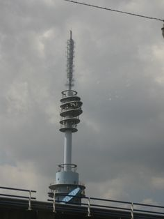 Broadcast Tower in Amsterdam Cn Tower, Amsterdam, Building, Top, Buildings, Construction, Architectural Engineering