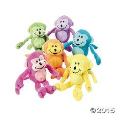 Plush Neon Monkeys - OrientalTrading.com