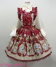 Wonder gallery apron in red