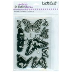 """Butterflies Stampendous Perfectly Clear Stamps 4""""X6"""" Sheet 4X6-SSC-028 - Stamps"""