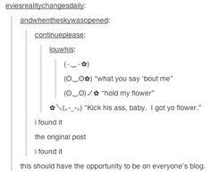 """hold my flower"""