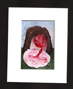 ACEO Chocolate Covered Cherry Candy Bon Bon Art Original Painting Penny StewArt #Miniature