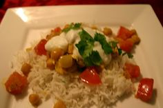Curried Chickpeas and Tofu from Moosewood Cooks at Home. A staple winter recipe for me!