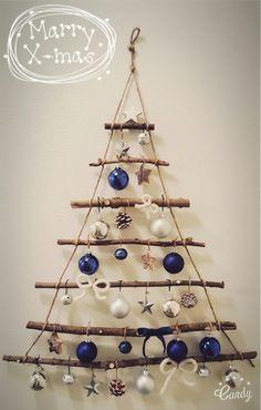 Christmas Tree Inspo, Christmas Village Sets, Wall Christmas Tree, Simple Christmas, Xmas Tree, Christmas Inspiration, Christmas Tree Ornaments, Christmas Decorations, Christmas Sewing